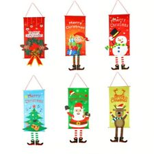 Merry Christmas Tree New Year 2021 Home Decoration Door Hanging Garland Decor