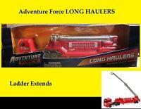 RARE Red Fire Truck. Ladder Extends. Adventure Force Maisto. Long Haulers. NEW!
