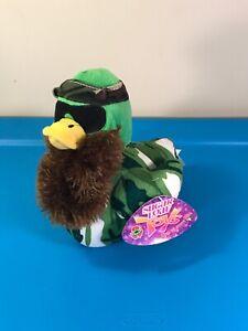 DUCK DYNASTY Bearded Plush Stuffed CAMO Duck SUGAR LOAF w Sunglasses & Bandanna