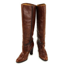 Gucci boots Brown Gold Woman Authentic Used T3528