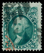 MOMEN: US STAMPS #96 BLUE GREEN USED PF CERTIFICATE