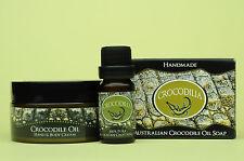 Skin Pack 12ml Crocodile Oil, 100g Croc Oil Cream, 50g Croc Oil Soap