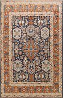 Geometric Vegetable Dye Khotan Oriental Area Rug Hand-knotted Wool 8'x10' Carpet