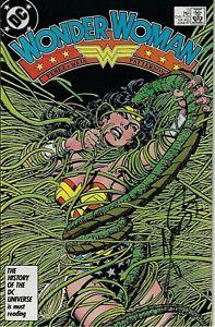 WONDER WOMAN #5 SIGNED BY GEORGE PEREZ DC COMICS 1987 EB204