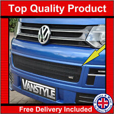 VW CARAVELLE T5 10-15 FRONT BUMPER GRILLE BLACK STAINLESS STEEL MESH LOWER GRILL