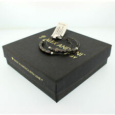 Authentic Alex And Ani Jordan Small Endless Hoops In Hematite, A10EH027H