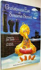 Christmas Eve on Sesame Street~Jon Stone / Joe Mathieu TV Hardcover 1981 Songs