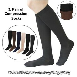 Unisex Medical Compression Pressure Knee High Leg Relief Pain Sport Socks