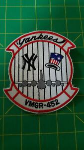 VMGR-452 KC-130 USMC NY Yankees Patch Lockheed Hercules Aerial Refueler Gas Fuel