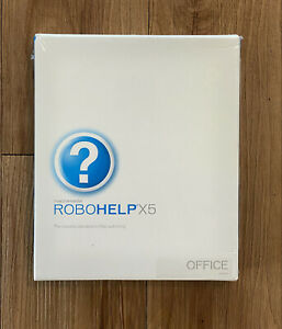Macromedia Robohelp X5 HTML Document and Help Authoring Software 2004