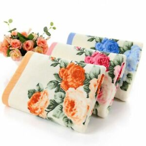 Bath Towel Women Men Floral Printed Peony Towel High Quality Cotton 35in*75in