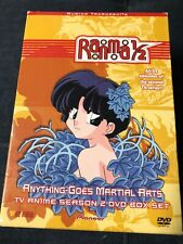 RANMA 1/2 : SEASON 2 - ANYTHING GOES MARTIAL ARTS (2002) DVD 5-DISC **COMPLETE**