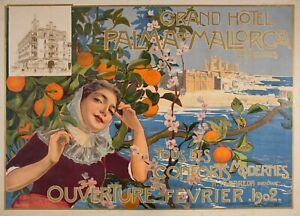Vintage Palma de Mallorca 1901 Spain Travel Print Poster Wall Art Picture A4 +