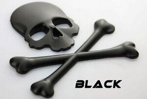 METALL Totenkopf Knochen 3D Aufkleber Schwarz Skull Auto PKW Sticker Emblem