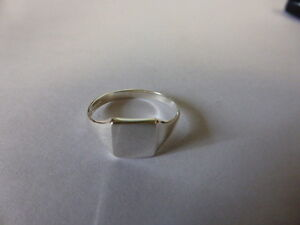 sterling silver 925 SQUARE signet ring