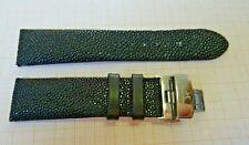 Neuwertiges Rochen Leder,Stingray Armband mit Faltschließe,E.Stahl Breite 22 mm