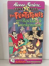 THE FLINTSTONES ~ MEET ROCKULA & FRANKENSTONE ~ HANNA-BARBERA ~ RARE VHS VIDEO