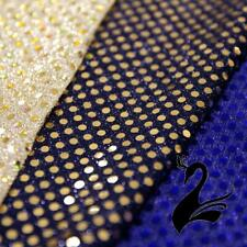 Sequin Fabric - Disco Circle 6mm Sequins On Mesh Net w Lurex 112cm Style 8645 (P