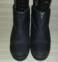 PORRELLE WOMENS BLACK ZIP WATERPROFF &BREATHABLE ANKLE BOOTS SIZE:4/37(WB1912)