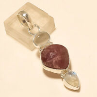 Natural African Sapphire Pendant 925 Sterling Silver Handmade Fine Jewelry Gifts