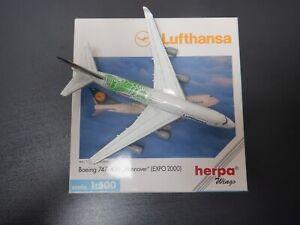 Herpa Wings 1:500 Lufthansa B747-430 Reg: D-ABVK EXPO2000 512015 EXC #847