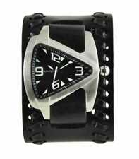 Nemesis Teardrop[  Stainless steel gems  watch with Black leather band BDT011K