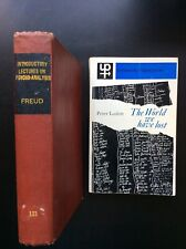 Introduction lectures psycho analysis Freud, Sigmund. world we lost laslett book