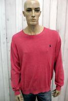 RALPH LAUREN Taglia 2XL Maglione Uomo Pull Cotone Casual Sweater Pullover Maglia