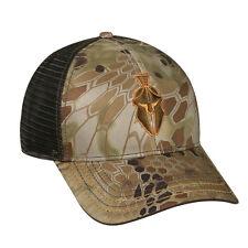 KRYPTEK Highlander Camo w/ Brown MESH BACK Helmet Logo Hunting Shooting Hat