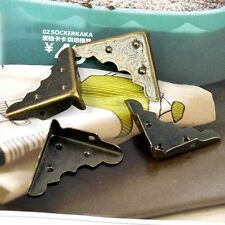 4Pcs Bronze Tone Jewelry Gift Case Box Corner Decor Angle Brackets Protector