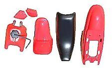 PLASTIC FENDER BODY SEAT TANK KIT YAMAHA PW50 PY50 RED 1981 - 2006 NEW