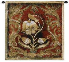 26x26 BEL TESORO I Floral Flower Tapestry Wall Hanging