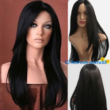 Fashion Lady Full Women Heat Resistant Hair Wig Long Straight Black Wigs
