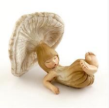 "2.75"" Sleepy Shroom Baby Fairy Garden Terrarium Statue Figure Miniature"