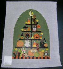 Melissa Shirley Designs Halloween Tree Handpainted Needlepoint Canvas