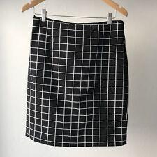 Marcs High Waist Plaid Pencil Skirt, AU Size 12