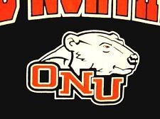 OHIO NORTHERN University Ada small T shirt ONU Polar Bears logo golf tee