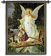 "Guiding Angel Romantic Tapestry Wall Hanging Kids 40""x53"""