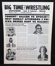 Big Time Wrestling Program w Ticket Stubs - Halcon vs. Spoiler! - 10/7/1979