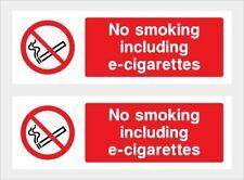No Smoking inc e-cig Sticker x2 car,taxi,minibus,lorry,Van,Cafe,Restaurant,etc