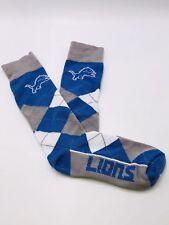Detroit Lions For Bare Feet Argyle Crew Socks