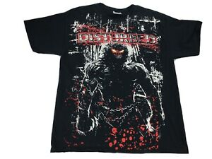 Vintage 90's Disturbed Band T-Shirt Size Large Black