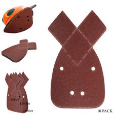 10x 80/120/240Grit Mouse Sanding Sheets For Black and Decker Detail Palm Sander