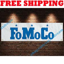 Ford FoMoCo Banner Flag 18x59 in Car Racing Show Garage Wall Sign Decor 2019