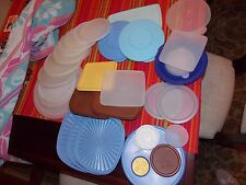Tupperware Lids Various Styles Colors and Sizes - Big Lot!!