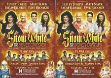 Snow White Birmingham Hippodrome Panto FLYERS x 2 (Joe McElderry/Lesley Joseph)