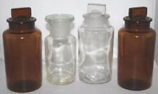 More details for 4 x vintage apothecary chemist bottles - free shipping [pl-3976 ]