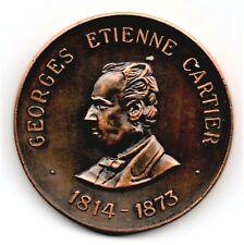 More details for 1967 sir georges etienne cartier 53mm medal