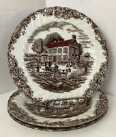Heritage Hall Made In Staffordshire England Dessert Plates, Set Of 3 - 6 3/4""