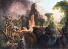Expulsion from the Garden of Eden by Thomas Cole 75cm x 54cm Canvas Print